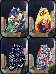 The Simpsons Drawstring Bags